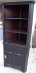black corner bookcase
