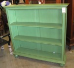 green low bookcase