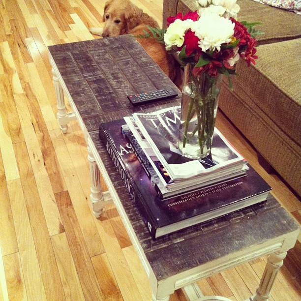 Customer Photo: Using a Bench as a Table | Nadeau - Furniture with ...